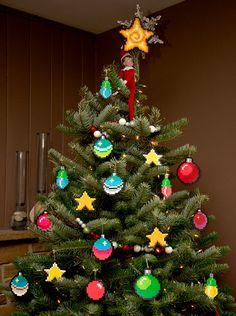 Des décorations de Noël 8bit ;-)
