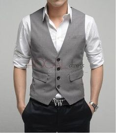 Joe- maybe black pants and grey vests?- easy to out together.