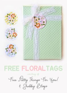 Floral Gingham Printable Tags - Free Pretty Things For You