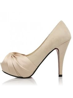 Summer Apricot Ribbon Stiletto Heels