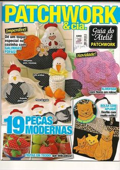 Revistas de manualidades Gratis: Revista de Patchwork gratis Diy Projects To Try, Crafts To Make, Sewing Magazines, Book Quilt, Patch Quilt, Easy Quilts, My Scrapbook, Felt Dolls, Book Crafts