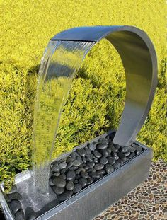 Curved Wave Waterfall Outdoor Water Feature - 176740 For Sale, Buy from Water Features & Fountains collection at MyDeal for best discounts. Bamboo Fountain, Waterfall Fountain, Indoor Fountain, Decorative Fountains, Small Fountains, Garden Fountains, Outdoor Water Fountains, Indoor Water Features, Water Features In The Garden