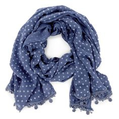 "Sole Society ""Polka Dot and Pom Scarf"", $24.95"