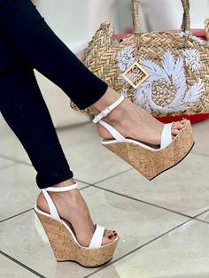Black Wedge Shoes, Ankle Strap Wedges, Shoes Sandals, Women Sandals, Open Toe, Black Women, High Heels, Footwear, Glamour