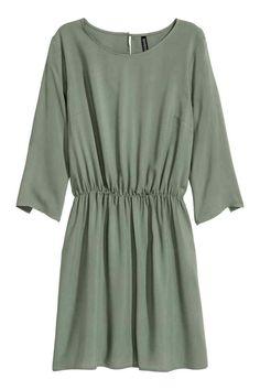 Krátké šaty - Khaki zelená - ŽENY | H&M CZ
