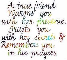 True friend quote via www.Facebook.com/LessonsLearnedInLife