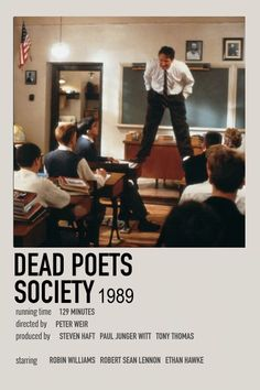 Iconic Movie Posters, Movie Poster Art, Iconic Movies, Film Posters, Movies To Watch, Good Movies, Film Movie, Series Movies, Dead Poets Society