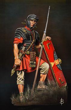 "© Vincent Pompetti from ""the Gallic War"" - ""La Guerre des Gaules"" Roman Warriors, Celtic Warriors, Imperial Legion, Rome History, Les Runes, Roman Armor, Roman Britain, Roman Legion, Greek Warrior"