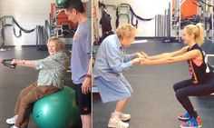 Meet the 97-year-old woman whose squats have made her a star #DailyMail.  So what's your excuse?