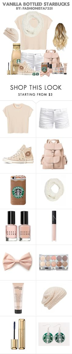 """""""Vanilla Bottled Starbucks"""" by fashionista7331 ❤ liked on Polyvore featuring Monki, ONLY, Converse, MANGO, Charlotte Russe, Bobbi Brown Cosmetics, NARS Cosmetics, Forever 21, claire's and philosophy"""