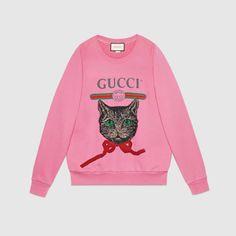 Gucci logo sweatshirt with Mystic Cat
