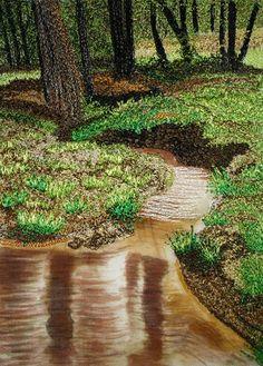 thread painting by Jody Raines