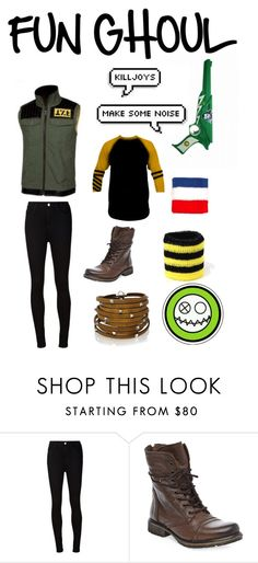 """Fun Ghoul- The Fabulous Killjoys"" by my-smolbeans ❤ liked on Polyvore featuring moda, AG Adriano Goldschmied, Steve Madden y Sif Jakobs Jewellery"