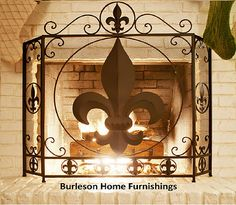 Fireplace Fleur De Lis Screen