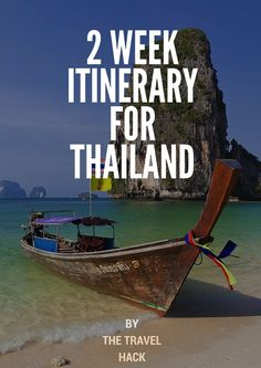 A 2 week itinerary for Thailand