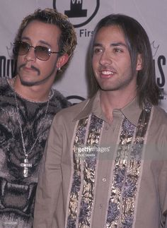 Singers A.J. McLean and Howie Dorough of the Backstreet Boys attend the VH1 Concert Special 'Divas Live: The One and Only Aretha Franklin' on April 10, 2001 at Radio City Music Hall in New York City.