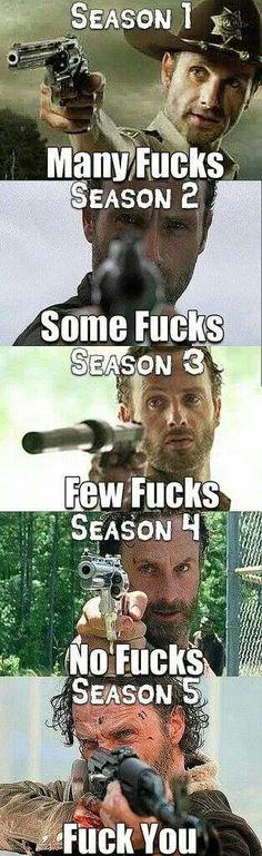 Evolution of Rick's attitude lol