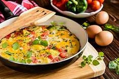 Southwest Vegetable Frittata ( The Best Years in Life ) If you're in a breakfast rut, this recipe is the perfect start to help you e. Omelettes, Vegetable Frittata, Frittata Recipes, Cooking Recipes, Healthy Recipes, Healthy Breakfasts, Food Trends, Avocado Salad, Stuffed Jalapeno Peppers
