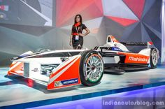 Mahindra Formula E race car at Auto Expo 2016