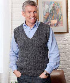 b00170b32 Par Vest for Him. Crochet Vest PatternCardigan PatternCrochet MenCrochet ...