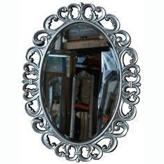Ovale rococo spiegel in zilver en goud