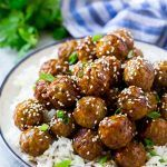 These easy teriyaki meatballs are coated in a sweet and savory sauce that's always a crowd pleaser. This recipe can be on the dinner table in less than 30 minutes, making it perfect for busy nights! Meatball Recipes, Meat Recipes, Asian Recipes, Cooking Recipes, Meatball Sauce, Chicken Recipes, Recipies, Quick Easy Meals, Easy Dinner Recipes