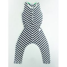 Indikidual @purestarters.nl  Spring Summer Collection '13 stripe jumpsuit black & white