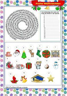 weihnachten | kostenlose daf arbeitsblätter | weihnachten rätsel, deutsche weihnachten, basteln