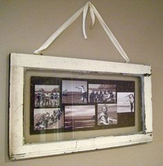 Vintage Window Shadowbox Photo Collage
