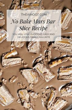 Mars Bar Slice No Bake Recipe Easy And Delicious Bar Cookies, Cookie Bars, Easy Baking Recipes, Cake Recipes, Malteser Slice, Mars Bar Slice, Easy Slice, Bar Tray, Yum Food