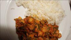 Lag risen på den måten som står på pakken... (Passer godt med brun ris også, men her hos oss det ...