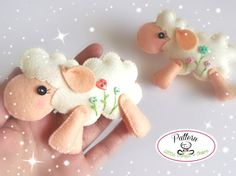Jumping Sheep PDF sewing pattern-DIY-Felt by LittleThingsToShare