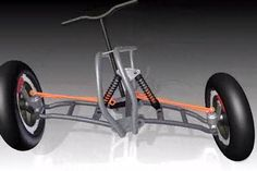Resultado de imagen para reverse trike Scooter Custom, Custom Bikes, Go Kart Steering, Soap Box Cars, Diy Go Kart, Electric Tricycle, Reverse Trike, Drift Trike, Cargo Bike