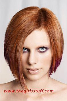 New Season Bob Hairstyles 2011 Angled Bob Hairstyles, Cute Hairstyles For Short Hair, Short Hair Cuts, Straight Hairstyles, Layered Hairstyle, Asymmetrical Hairstyles, Bob Haircuts, Red Hairstyles, Style Hairstyle