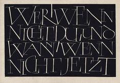 Günter Gnauck - Wer, wenn nicht du - The Berlin Calligraphy Collection