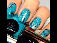 Turquoise nail art - YouTube