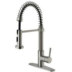 @Overstock.com - VIGO Stainless Steel Pull-Out Spray Kitchen Faucet with Deck Plate - This Vigo kitchen faucet showcases a sleek stainless steel finish on solid brass construction. The faucet comes complete with a deck plate for an elegant, finished look.  http://www.overstock.com/Home-Garden/VIGO-Stainless-Steel-Pull-Out-Spray-Kitchen-Faucet-with-Deck-Plate/6006681/product.html?CID=214117 $168.29