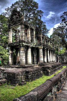 Angkor Wat, Cambodia Creepy and really sad considering it's history. Hauntingly beautiful