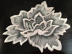 A13 Bridal Lace Appliques,wedding Applique, ONE Piece Lace Appliques, Embroidered Appliques A13