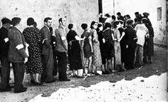 colas del hambre - Tiempos de postguerra
