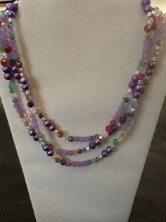 Hey, I found this really awesome Etsy listing at https://www.etsy.com/listing/191371016/purple-multistrand-necklace