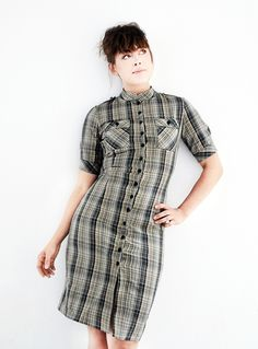 B.L.A.I.R checked shirt dress   sub circle for pencil skirt!