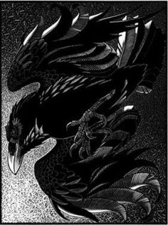 Unkindness of Ravens II by Colin See-Paynton - I really like his woodcut prints. S