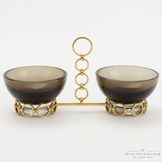 Graceful in grey glass, the #juliabuckinghamforglobalviews Bracelet Snack Bowls are completed with the addition of individual bowls to create an even larger party!