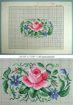 Cross Stitch Rose, Cross Stitch Flowers, Hand Embroidery Designs, Embroidery Patterns Free, Cross Stitching, Cross Stitch Embroidery, Cross Stitch Designs, Cross Stitch Patterns, Cross Stitch Geometric