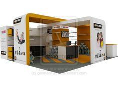 Store kiosk design.