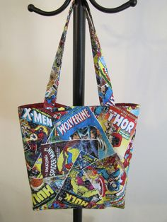 90283532d9 Items similar to Marvel Hero Library Bag and 8 count crayon caddy set on  Etsy
