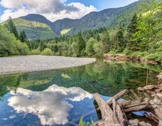 very serene landscape and reflection at Golden ears provincial park, british Columbia, Canada. On an easy day hike to lower falls. Vancouver Neighborhoods, Easy Day, Day Hike, British Columbia, That Way, Alaska, Serenity, The Neighbourhood, Hiking