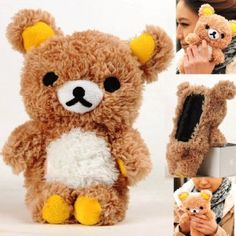 Amazon.com: Authentic iPlush Plush Toy Cell Phone Case for iPhone 4 / 4S - Company Direct Sell 100 Percent Authentic (Brown Bear): Cell Phones & Accessories