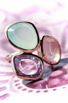 rose gold plated gemstone #cocktail #ring I designed for NEW ONE I NEWONE-SHOP.COM